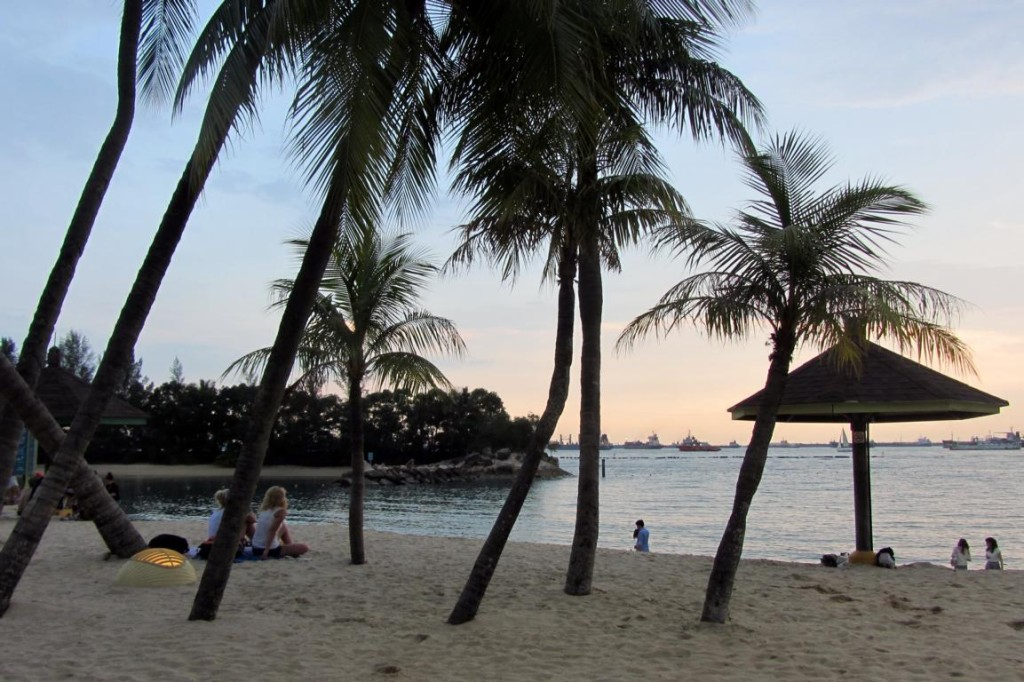Siloso Beach Singapore Dusk