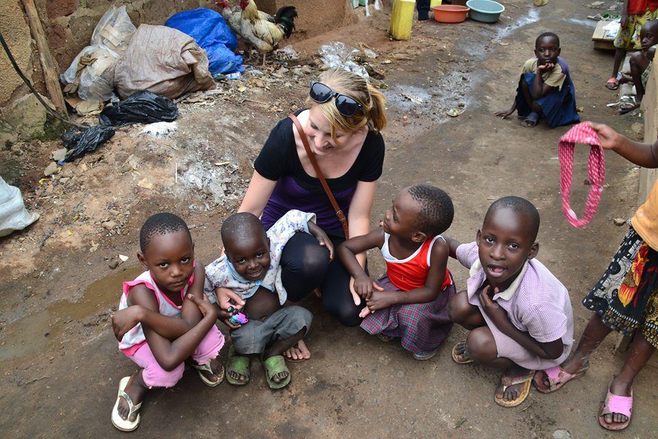 Hanne Hellvik in Uganda