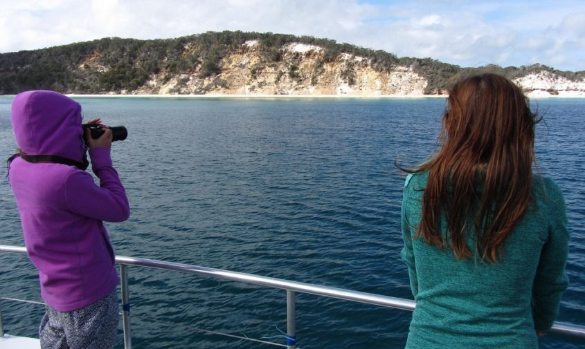 View of Fraser Island during Whale Watch Hervey bay tour
