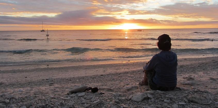 Sunset at Lady Elliot Island Eco Resort, Australia