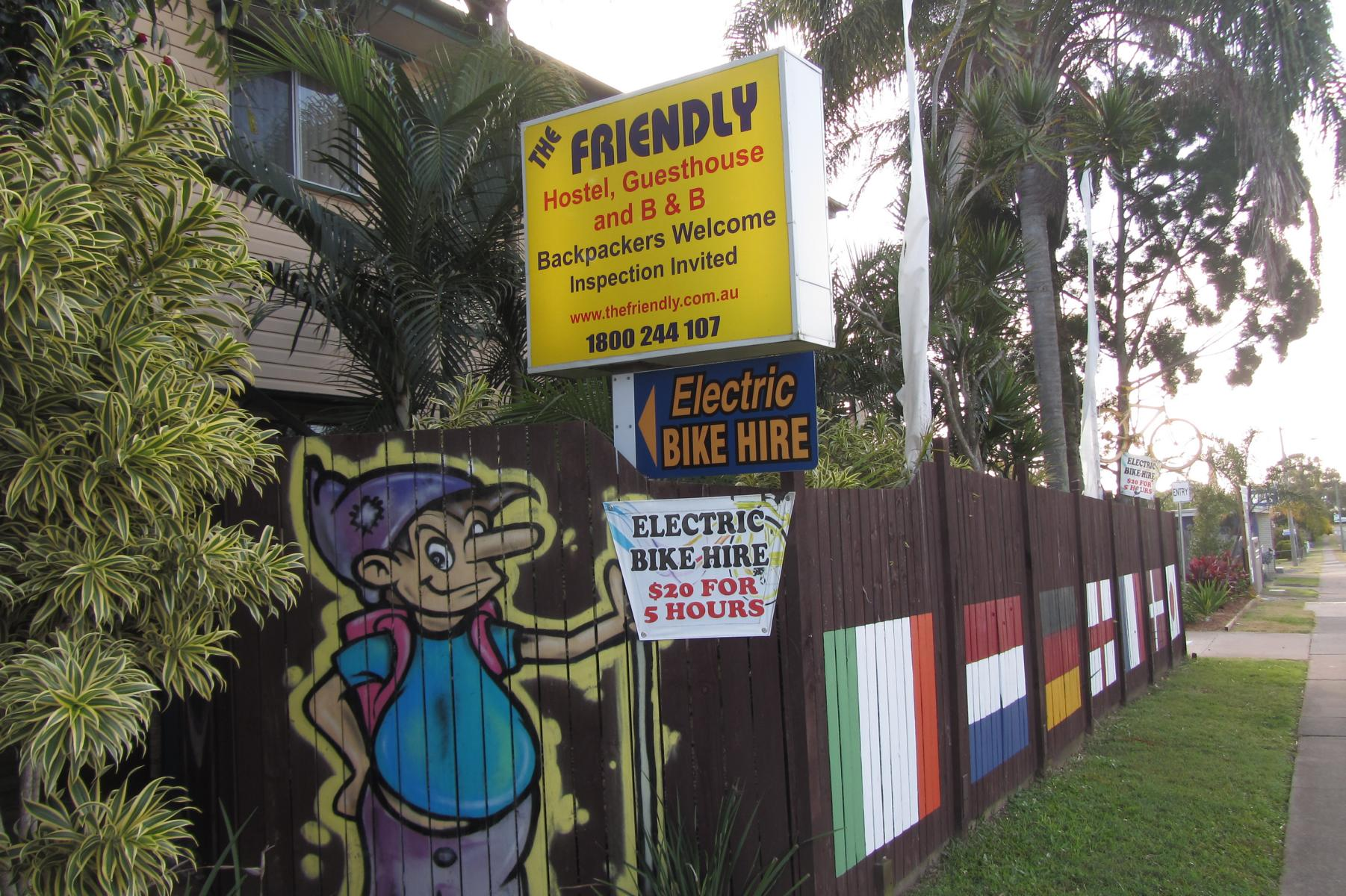 The Friendly Hostel, Electric Bike Hire, Hervey Bay, Queensland, Australia