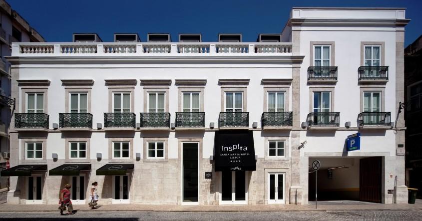 Eco-friendly boutique hotel Inspira Santa Marta in Lisbon, Portugal