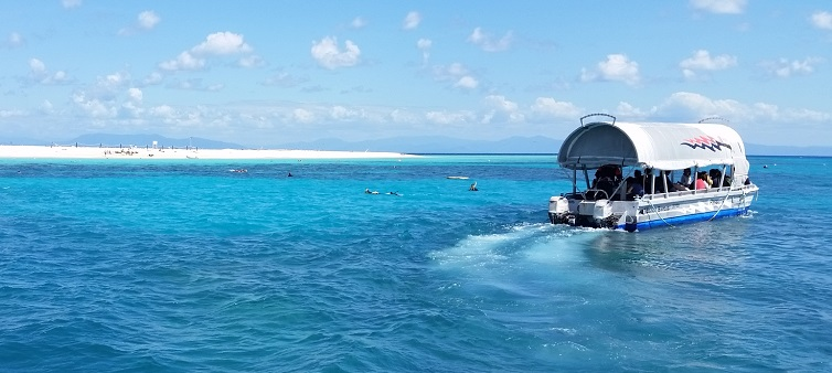 Exploring Michaelmas Cay reef with Passions of Paradise