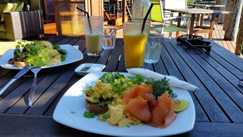 Delicious organic food Sanctuary Retreat Mission Beach near Cairns