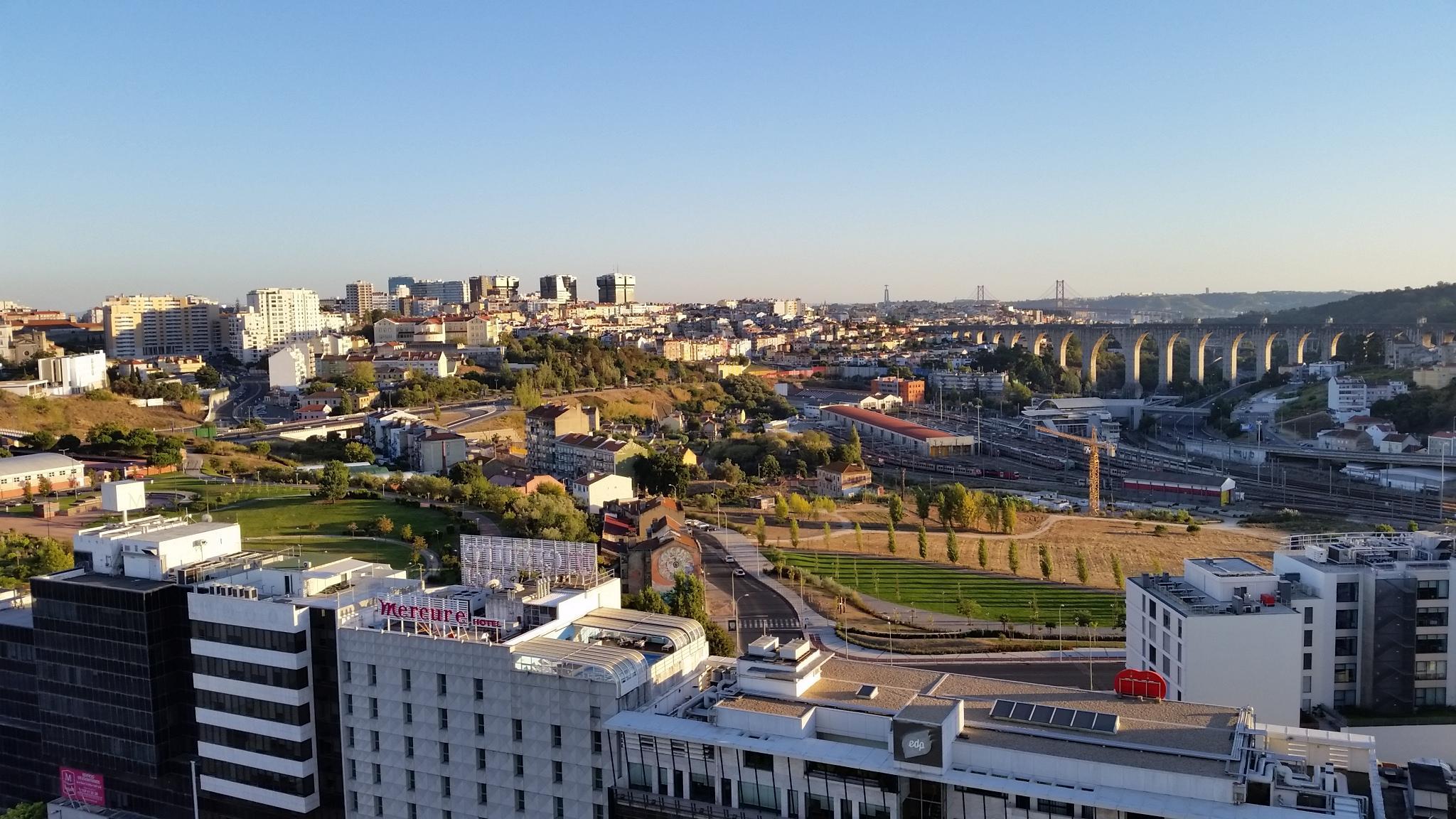 View from Corinthia Lisbon Hotel club lounge