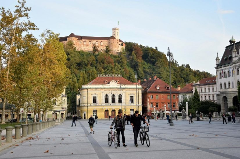 Car-free Ljubljana city center