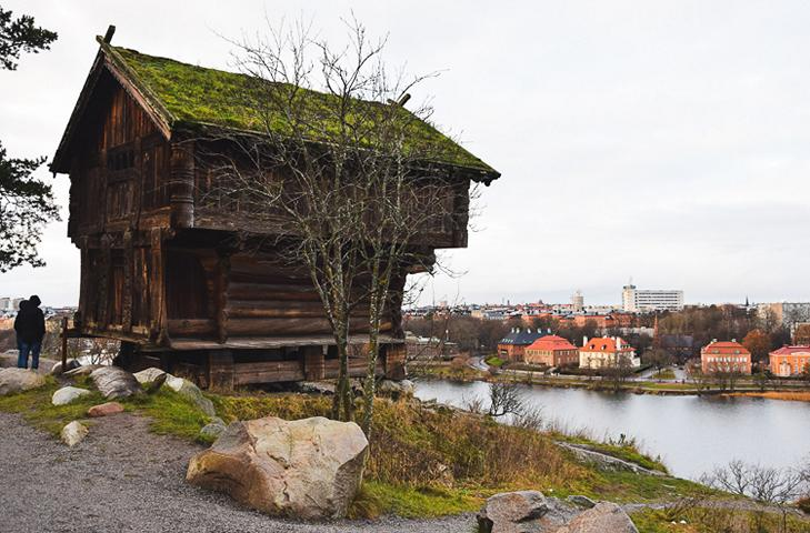 Ancient wooden barn Skansen